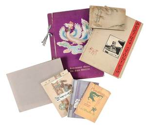 Asian Ephemera Lot, Four Books, Two Albums