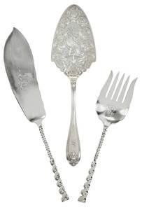 Three Pieces Silver Flatware