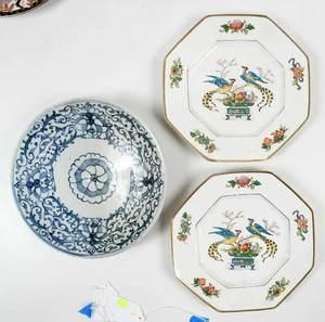 Nine Decorated Ceramic Service Pieces