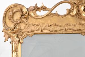 Classical Gilt Dolphin Over Mantel Mirror