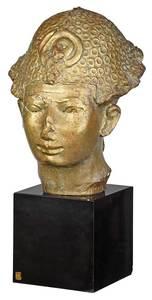 Cast Bronze Egyptian Style Bust