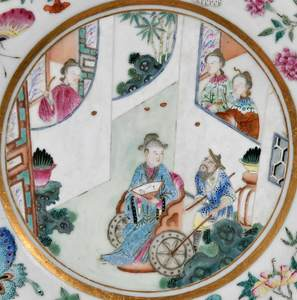 Two Finely Decorated Famille Rose Plates