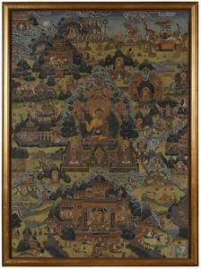 Framed Shakyamuni Thangka
