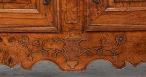 Provincial Louis XV Carved Burlwood Server