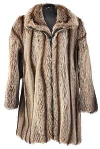 Coopchick Raccoon Fur Coat