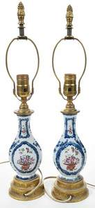 Pair of Chinese Export Vase Lamps
