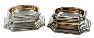 Pair of George II English Silver open salts