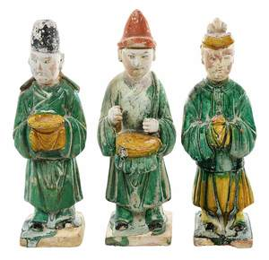 Three Chinese Tang Figures