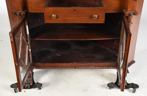 Chippendale Style Carved Walnut Corner Cupboard