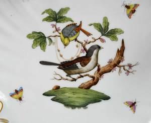 Three Herend Rothschild Bird Serving Pieces