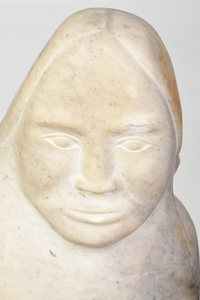 Large Inuit Carved Marble Sedna Sculpture