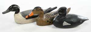 Three Louisiana Carved and Painted Duck Decoys