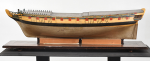 Carved and Painted Model of the HMS Emerald