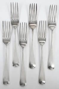 Six George III English Silver Flatware Pieces