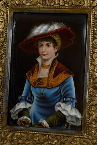 Two Finely Painted Porcelain Plaques