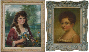 Two British School Portraits