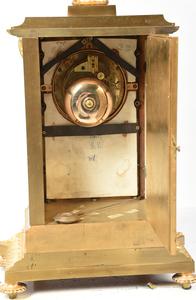 Fine Louis XVI Style Gilt Bronze Clock Garniture