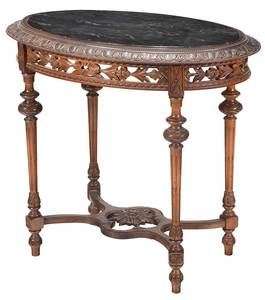 Louis Philippe Style Marble Top Center Table