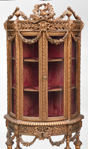 Louis XVI Style Carved and Gilt Vitrine