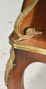 A Louis XV Style Bronze Mounted Parquetry Server
