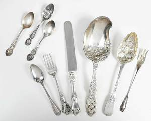 37 Pieces Assorted Silver Flatware