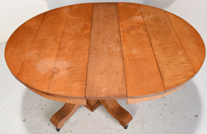 American Tiger Maple Extension Dining Table