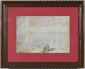 Document by Thomas Penn and John Penn