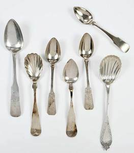19 American Coin and Sterling Silver Spoons