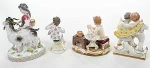 Four Meissen Porcelain Figurines of Children