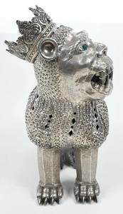 Spanish Colonial Silver Lion Pomander