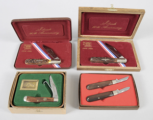 Four Schrade Commemorative Knives
