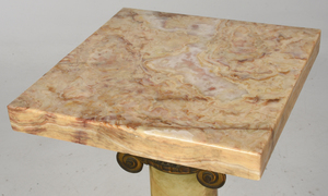 Classical Figured Onyx and Gilt Bronze Pedestal