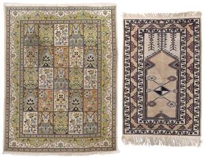 Two Wool Handwoven Rugs