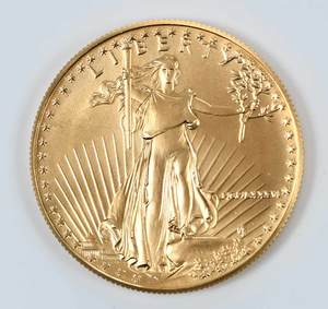 Five American Gold Eagles