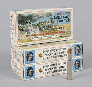 Three Boxes Winchester Legendary Lawmen Ammunition