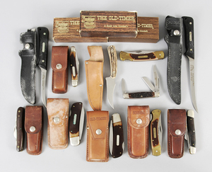 Eleven Assorted Schrade Knives