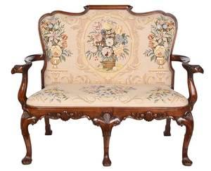 Irish Chippendale Style Upholstered Setee