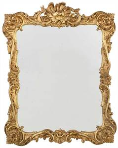 Rococo Style Carved and Gilt Mirror