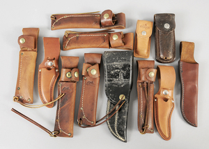 12 Schrade, Case Knives Leather Sheaths