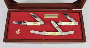 Case Knives 1985 Gun Boat Set