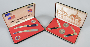 Two Case Knives Civil War Commemorative Sets