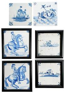 39 Delftware Style Tiles