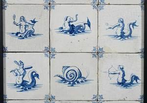24 Framed Delft Tiles