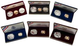 Six U.S. Commemorative Sets