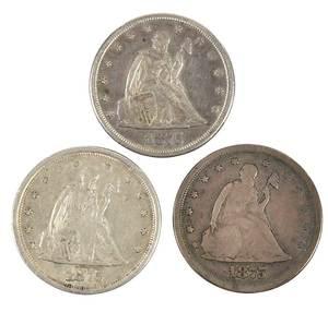 Three 20 Cent Pieces