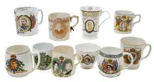 Ten British Commemorative Porcelain Pieces