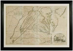 Fry & Jefferson Map of Virginia