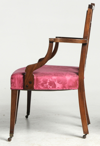 New York Federal Style Double Settee, Side Chair