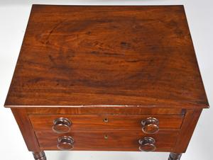Charleston Federal Mahogany Two Drawer Stand