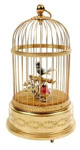 Swiss Reuge Music Singing Bird Automaton